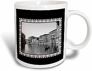 BLN 复古照片历史和人1800–venizia palaces foscari , giustinian 和 rezzonico ON THE Grand canal 意大利, Carlo 1875NAYA–马克杯 黑色/白色 11 oz