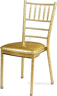 商业座椅产品 Chiavari 金色餐椅