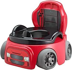 The First Years 赛车座椅便盆,易于清洁和使用,红色