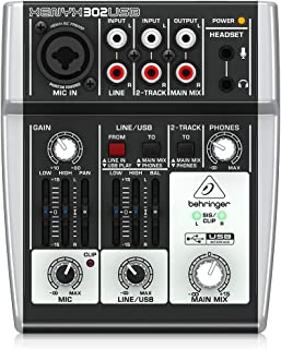 Behringer 百灵达 XENYX 302USB 模拟调音台 设计紧凑,噪音极低 内置立体声USB/音频接口
