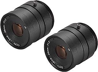 uxcell 2 件相机变焦镜头 25 毫米焦距 720P F1.2 1/3 英寸 CS 支架适用于 CCD 相机