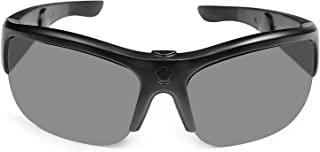 TJ Frames – 音频太阳镜,带开放式耳机,男士女士自行车眼镜,UV400 轻质,适合骑行、钓鱼、跑步、驾驶、高尔夫 – 黑色(129 毫米小号)