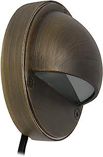 Lightkiwi P8015 半月甲板灯,适用于低电压景观照明,黄铜