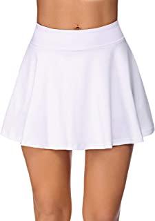 COOrun 女式打褶网球裙,带短裤和口袋的运动裙,适合高尔夫、运动、跑步、锻炼