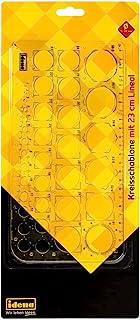 Idena 20070 圆形模板,带 23 厘米尺子,1 件