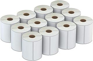 AveneMark 10.16cm x 15.24cm 带粘合剂的直接热标签,适用于 UPS 标签、地址、穿孔,与 Rollo 标签打印机和 Zebra 桌面打印机兼容 - 12 卷,250/卷,3000 个标签