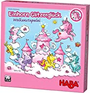 HABA 云境中的幸运独角兽 304539 木制桌游 含独角兽和云层拼块,适用于4岁以上儿童