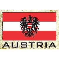 国旗冰箱冰箱冰箱磁铁 - 欧洲 Country: Austria