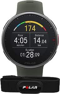 POLAR Vantage V2-带有GPS的高级多功能运动智能手表,基于腕部的HR测量-适用于所有运动 - 音乐控制、天气、手机通知