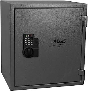 1.74 CF 防火电子*柜 - 橱柜*锁盒带键盘锁和钥匙现金首饰盒*盒,适用于家庭办公室酒店商务