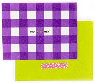 Taylor Elliott Designs Hey Girl Hey 盒装记事卡套装 - 紫色