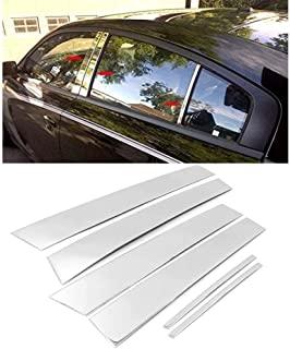 Overun 标志性闪亮抛光侧中心6件门柱装饰套装专为 2011-2020 克莱斯勒 200 300 道奇充电器设计