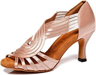 HIPPOSEUS 女士拉丁舞鞋萨尔萨舞软交际舞练习表演鞋,型号 U221