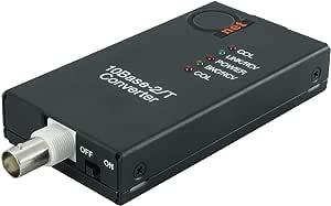 10BaseT RJ45 UTP to 10Base2 Thinnet 同轴 BNC 媒体转换器   以太网适配器 10Base-T/2