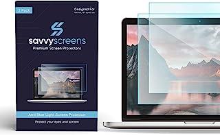 SAVVY SCREENS 防蓝光 15.6 英寸笔记本电脑屏幕保护膜 - 2 件装 - 眼部保护 减少眼部* - 易于安装 - 16:9 宽高比 - 适用于 Windows 电脑