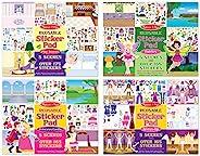 Melissa & Doug 可重复使用的贴纸集:仙女,公主城堡,游戏屋,装扮图案- 多于68