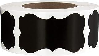 2-1/4 英寸 x 1-1/4 英寸黑色黑板纸标签贴纸,适用于精油瓶、梅森罐罐、食品储存盒和名称标签,超过 350 张贴纸,5.72 厘米 x 3.2 厘米