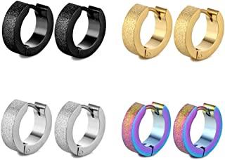 不锈钢 Huggie 环状耳环 男女女孩男孩穿孔珠宝