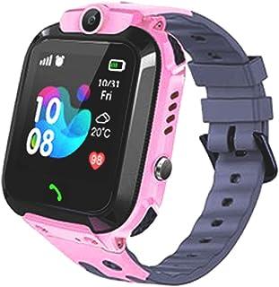 智能手表儿童 GPS 跟踪器 - IP67 防水智能手表,带 SOS 语音聊天相机闹钟数字腕表智能手表女孩男孩生日礼物