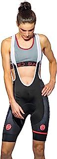Sundried 女式衬垫背带短裤 公路自行车和山地自行车骑行服