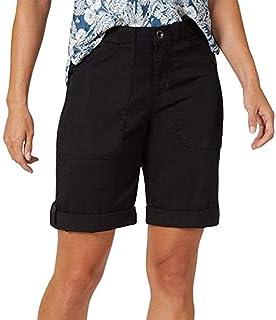 女式百慕大短裤户外徒步速干工装短裤高尔夫短裤带口袋宽松舒适短裤