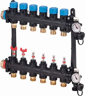 FM Vario M 2xG3/4 欧元流量计,右侧或左侧连接G1带密封,电路50毫米,黑色(参考1085944)