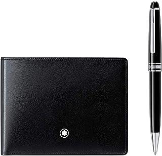 Montblanc Meisterstuck 圆珠笔和 6CC 钱包套装 - 黑色