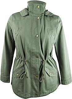 Style & Co 棉质连帽实用夹克,CO SAGE * L 码