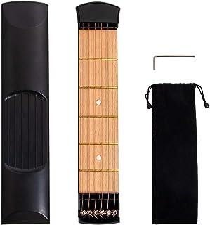 lotmusic 口袋原声吉他练习工具 6 弦指板 6 弦 6 弦 琴弦 训练器 便携式