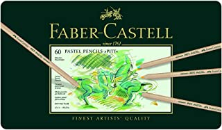 Faber-Castell PITT Pastel Pencil Tin - 60 count 112160 Metal Tin of 60