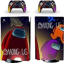 PS5 控制台和控制器皮肤乙烯贴纸贴花盖适用于 Playstation 5 控制台和控制器,耐用、防刮、无气泡(歌曲我们)