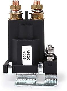 DollaTek 高电流启动继电器 500 AMP DC 24V 4 针 SPST 汽车自动启动接触器双电池隔离器控制开/关开关