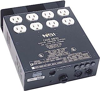 Leviton 4 通道 600 瓦/通道电源线调光器/继电器系统,微型*和 0-10V,安装 DMX 20-Amp - 120-Volt N5600-D20,需配变压器