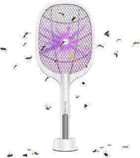 MroTech 2 合 1 电网球拍和灯 USB 可充电*网网 3000 伏手持立式设备带 LED 夜灯 适用于夏季家庭厨房室内户外花园露台露营