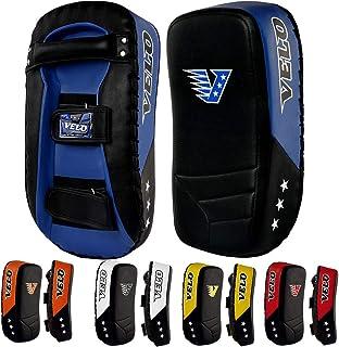 VELO 弧形手臂泰式衬垫超细纤维皮革踢拳击击击防护手套 MMA Focus Muay Punch Grippo