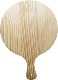 耐用木制披萨即剥铲盘厨房烘焙工具 12 英寸(30.5 厘米)平面