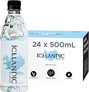 Icelandic Glacial Natural Spring Water, 500 Milliliter, 24 Count