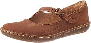 El Naturalista 女士 N5314 愉悦木色/珊瑚色玛丽珍平底鞋