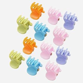 Uxcell 12 件塑料女士迷你 6 爪发针或发夹,蓝色/粉色,0.04 磅