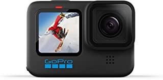 GoPro HERO10 黑色 – 防水运动相机带前置 LCD 和触摸屏后屏幕,5.3K60 超高清视频,23MP 照片,1080p 实时流媒体,网络摄像头,稳定