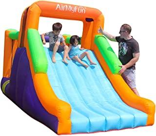 AirMyFun 充气弹跳屋带鼓风机 | 儿童弹跳屋带滑梯 | 儿童户外派对