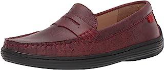 MARC JOSEPH NEW YORK 儿童皮革男孩/女孩休闲舒适一脚蹬软帮乐福鞋驾驶风格