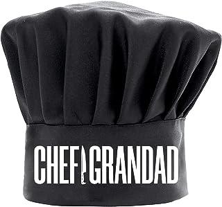 男士厨师帽趣味黑色,厨师爷爷烹饪帽子可调节厨房厨师帽爸爸生日父亲节圣诞节礼物