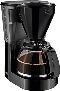 Melitta Easy 带玻璃壶的过滤式咖啡机 紧凑设计 黑色 15 Tassen 1010-02