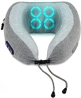 4 球揉捏旋转无绳按摩颈枕和指压按摩器 - 头部和颈部支撑枕,适用于飞机、火车、汽车旅行