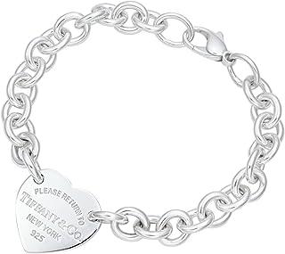 TIFFANY&CO 蒂芙尼 纯银 RTT 环形心型手链 21149799