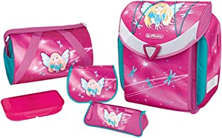 "HERLITZ 50007653schulranzen flexiplus ,磁力锁锁"" 智能"" ,胸带,17-piece 学生手机壳,运动包,懒人罗纹布, brotdose 粉色,设计:童话,1件"