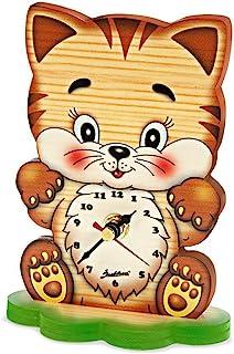 Bartolucci PFORPB0001000 猫配有大头桌时钟,多色,小号
