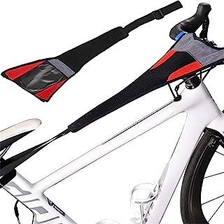 自行车框架防汗套,自行车训练器防汗网框架防护吸汗,自行车框架防护带捕手训练器涡轮训练器防汗套,一般