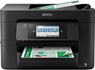 Epson 爱普生 Workforce Pro WF-4820DWF 4 合 1 商务喷墨多功能设备(打印机,扫描仪,复印机,传真,ADF,WiFi,以太网,NFC,双面,单墨盒,DIN A4)黑色